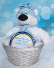 LARGE  POLAR  BEAR  BASKET