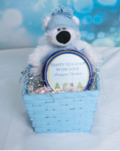 SMALL POLAR BEAR BASKET
