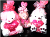 VALENTINE   BEAR   WITH  SEE'S LOLLIPOP (SKU: 043)